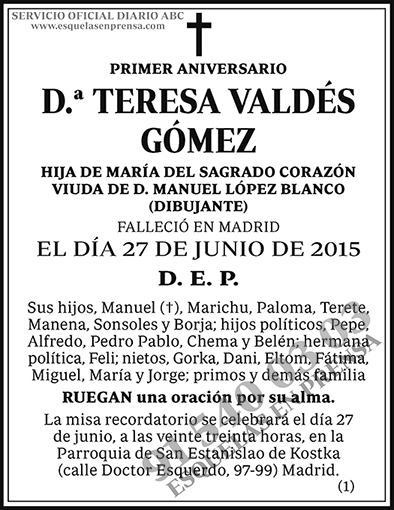 Teresa Valdés Gómez